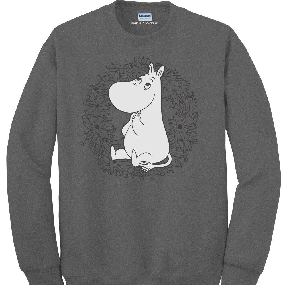 YOSHI850|Moomin嚕嚕米正版授權:大學T【許願】成人長袖 T-shirt (石楠灰)