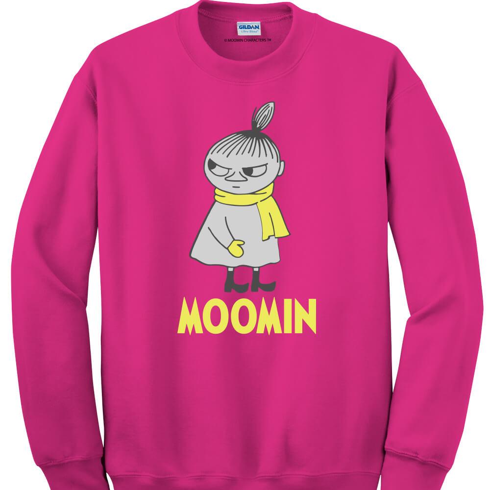 YOSHI850 Moomin嚕嚕米正版授權:大學T【等待寒冬】(桃紅)
