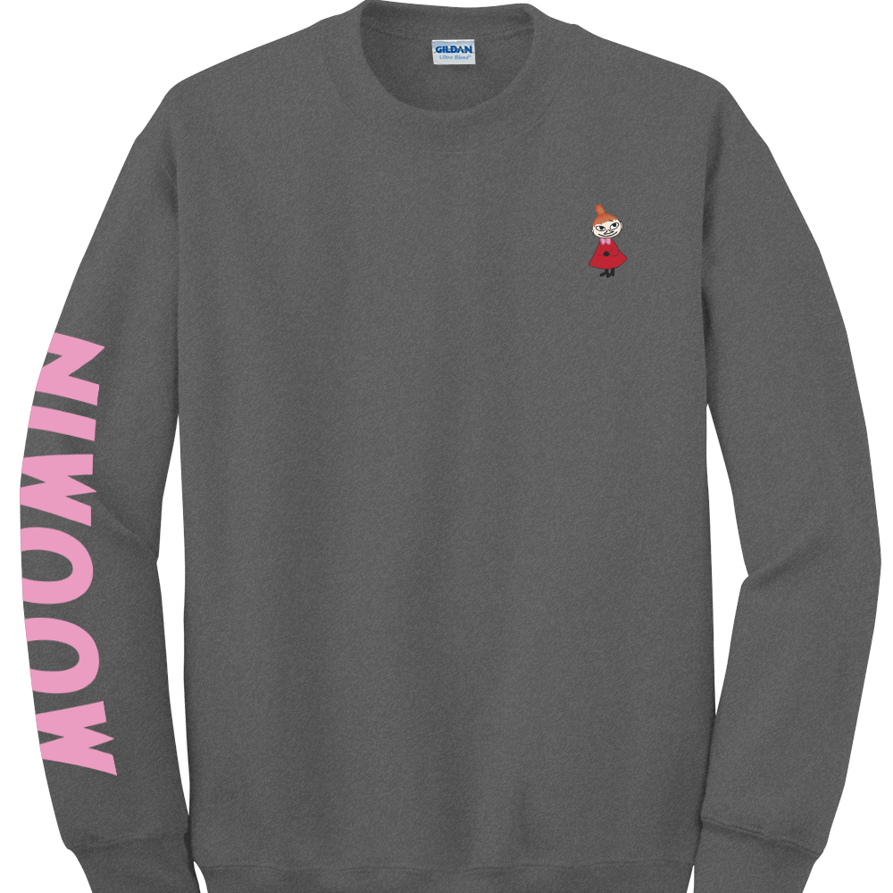 YOSHI850|Moomin嚕嚕米正版授權:大學T【06 石楠灰】成人長袖 T-shirt  (石楠灰)