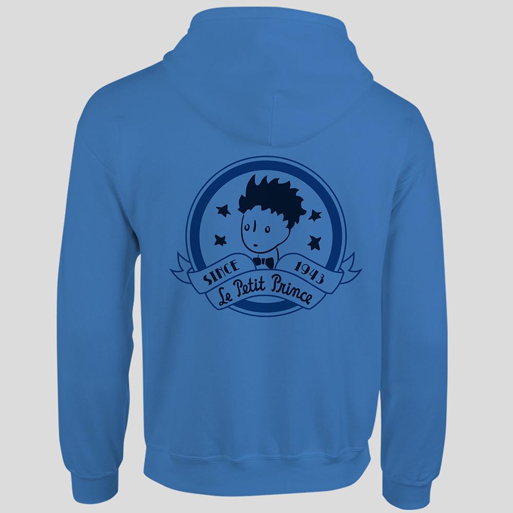 YOSHI850|經典小王子正版授權:連帽夾克【奇怪的大人們】成人長袖(寶石藍)
