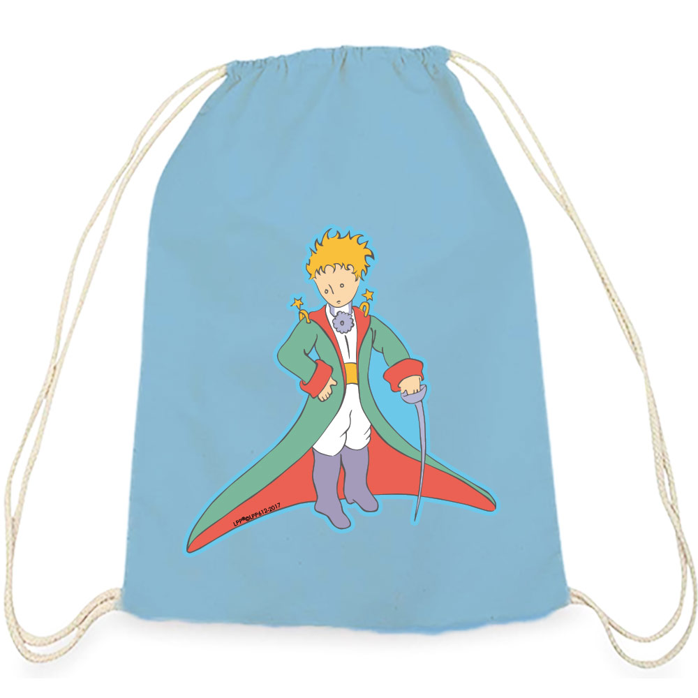 YOSHI850|小王子經典版授權系列:彩色束口後背包【溫柔的審判官】水藍