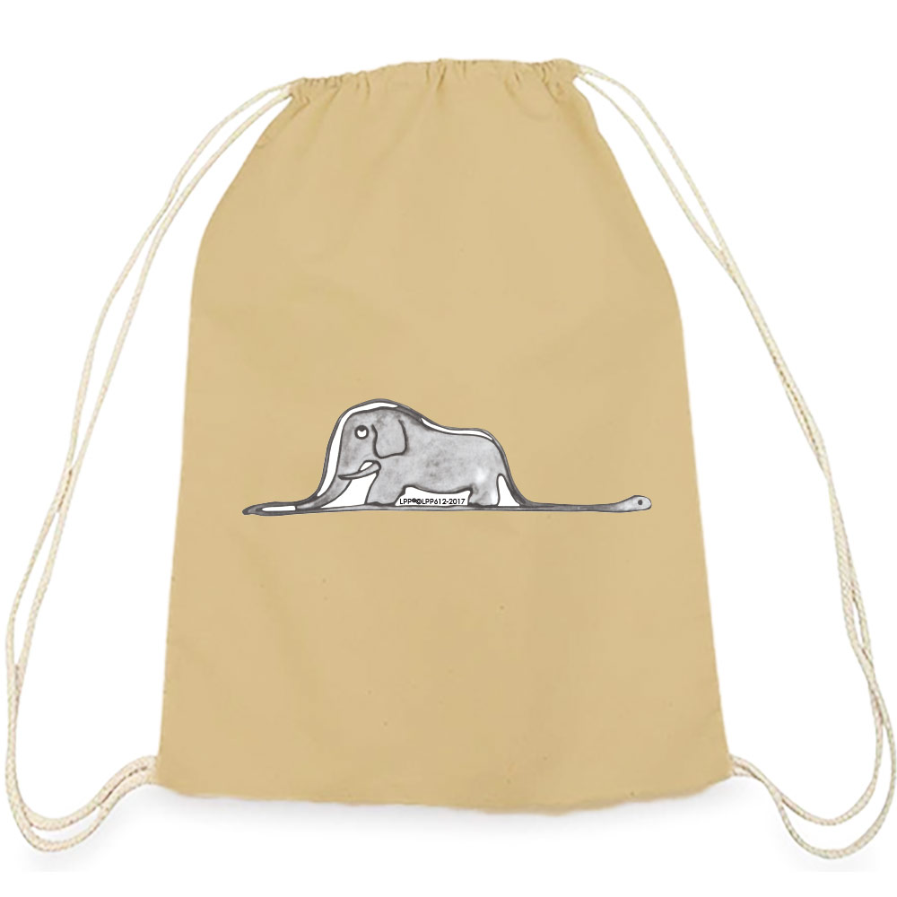 YOSHI850|小王子經典版授權系列:彩色束口後背包【純真】卡其