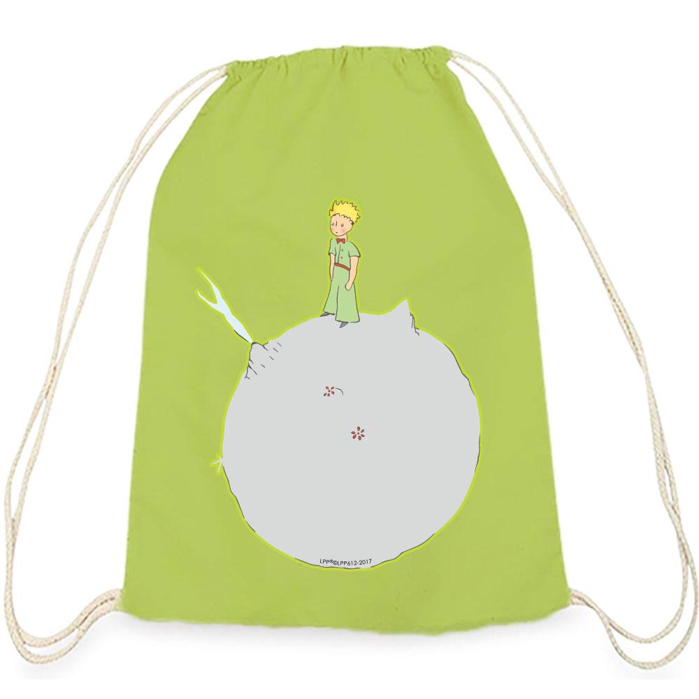 YOSHI850|小王子經典版授權系列:彩色束口後背包【另一個星球】果綠