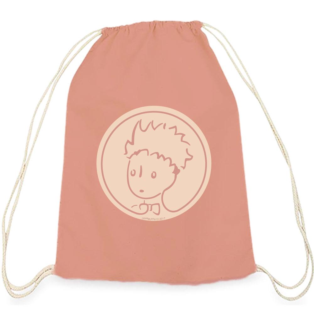 YOSHI850|小王子經典版授權系列:彩色束口後背包【玫瑰花園】粉色