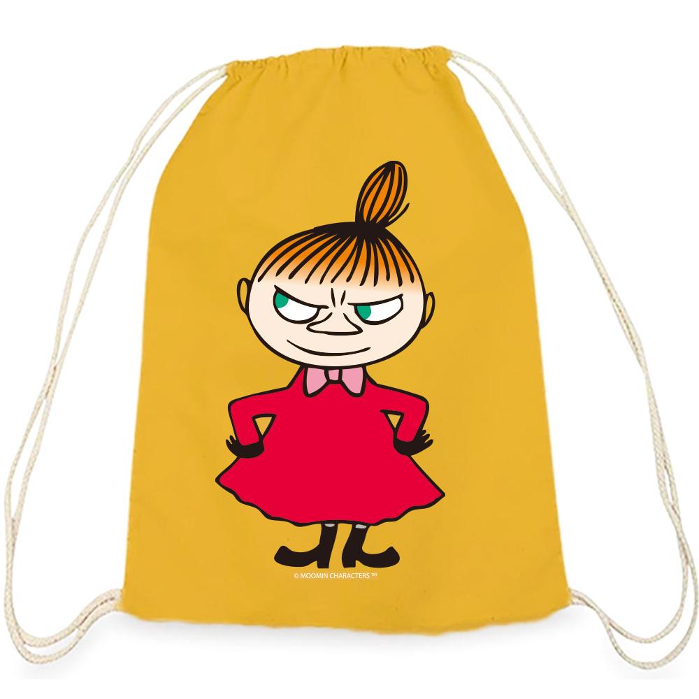 YOSHI850|Moomin嚕嚕米正版授權:彩色束口後背包【 Liitle My】 黃