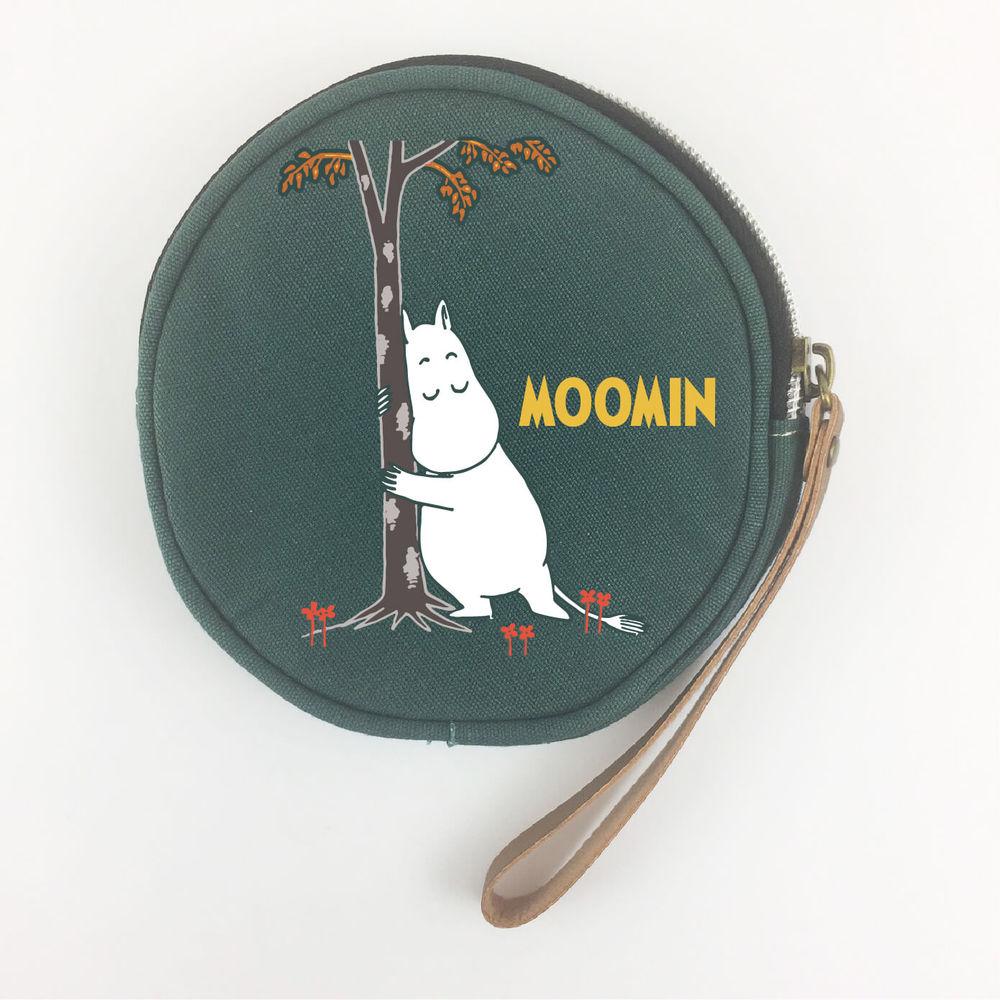 YOSHI850 Moomin嚕嚕米正版授權:大零錢包【01墨綠】