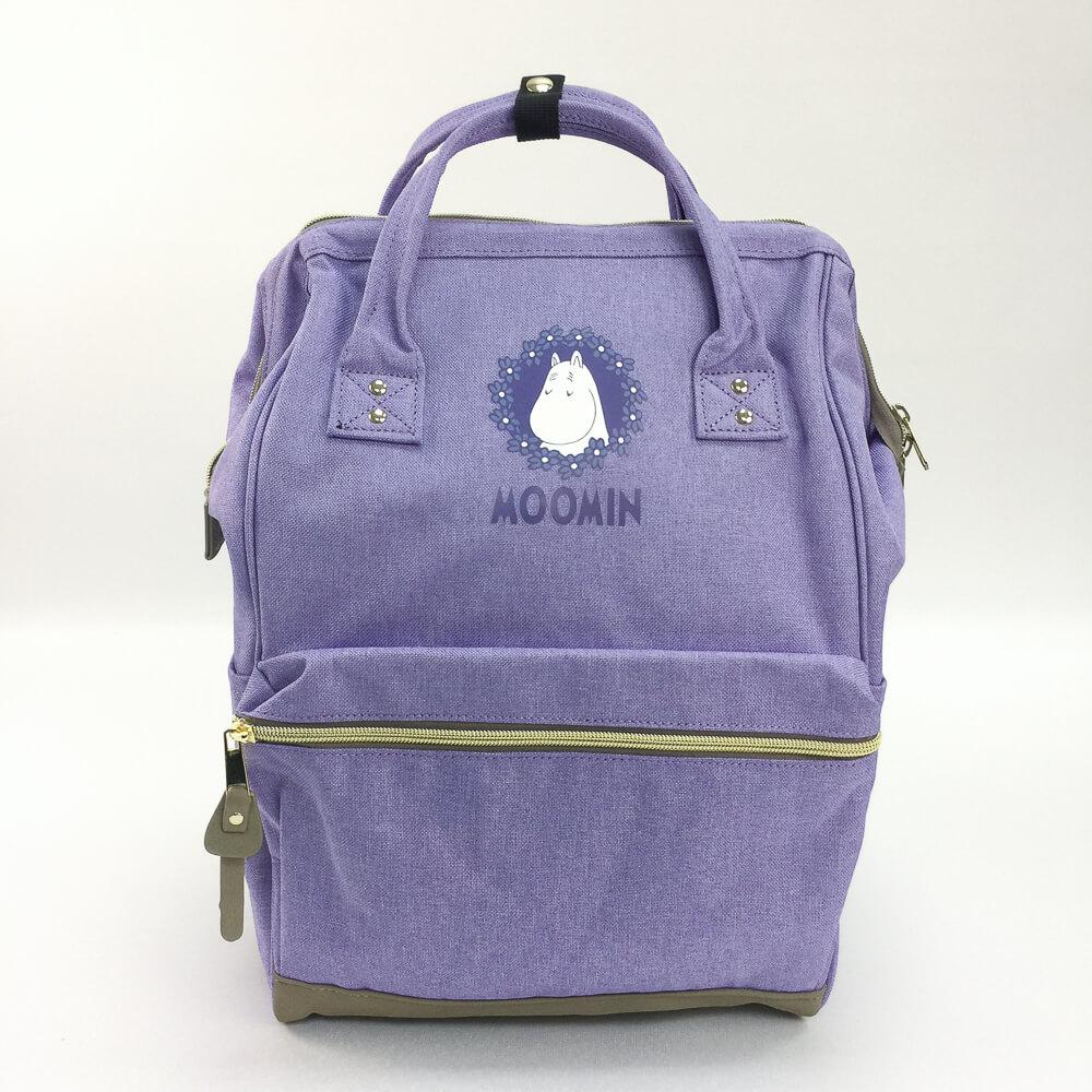 YOSHI850 嚕嚕米正版授權:寬口後背包【磨砂紫款】