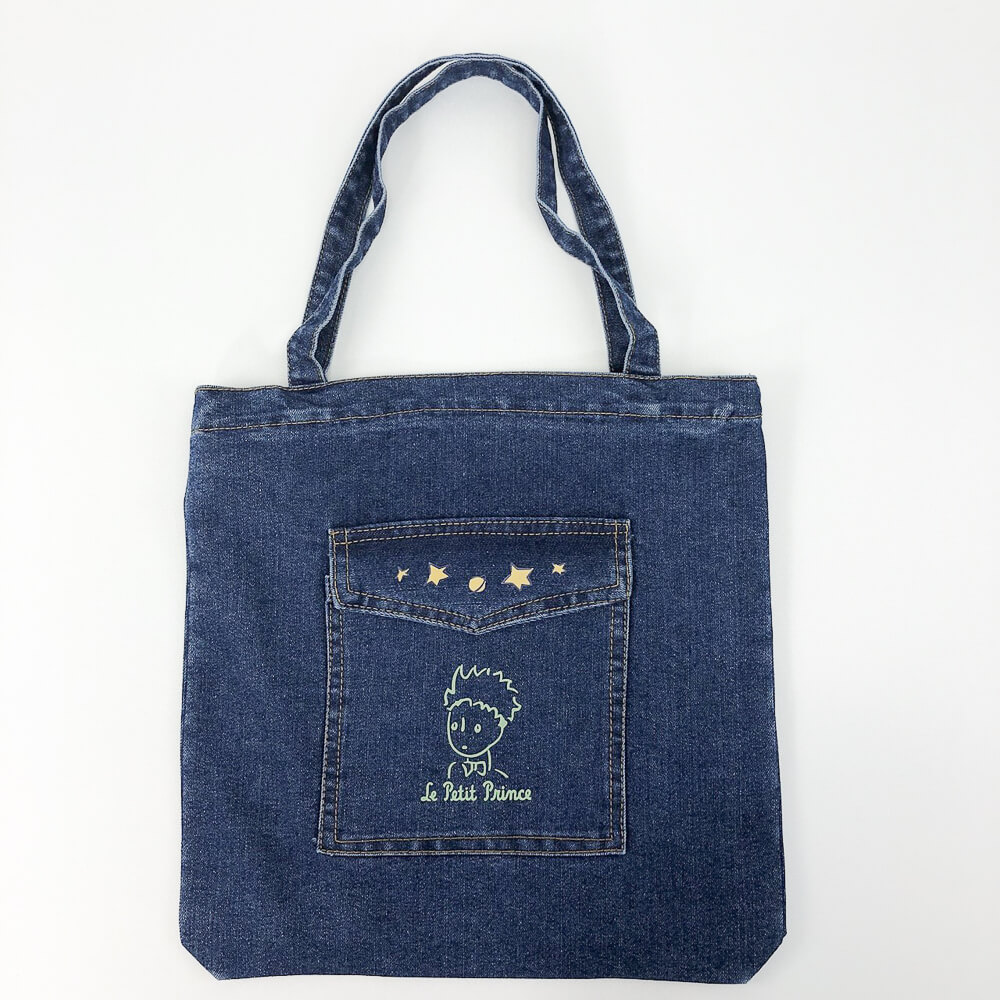 YOSHI850 小王子經典版授權:牛仔購物包【深藍】
