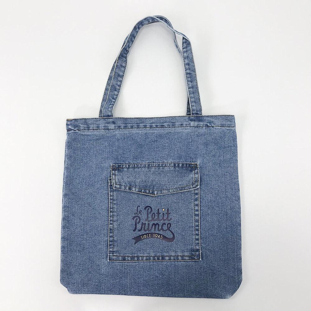 YOSHI850|小王子經典版授權:牛仔購物包【淺藍】
