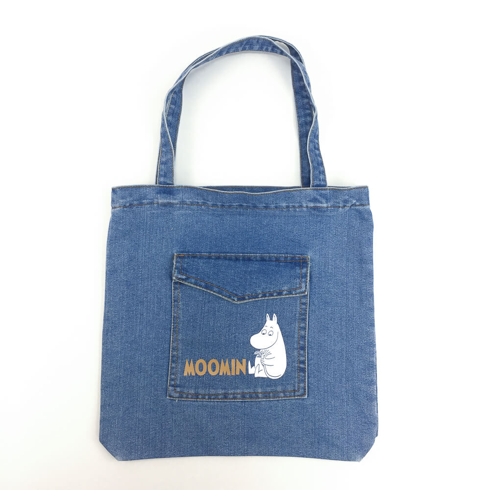 YOSHI850|嚕嚕米正版授權:牛仔購物包【淺藍】