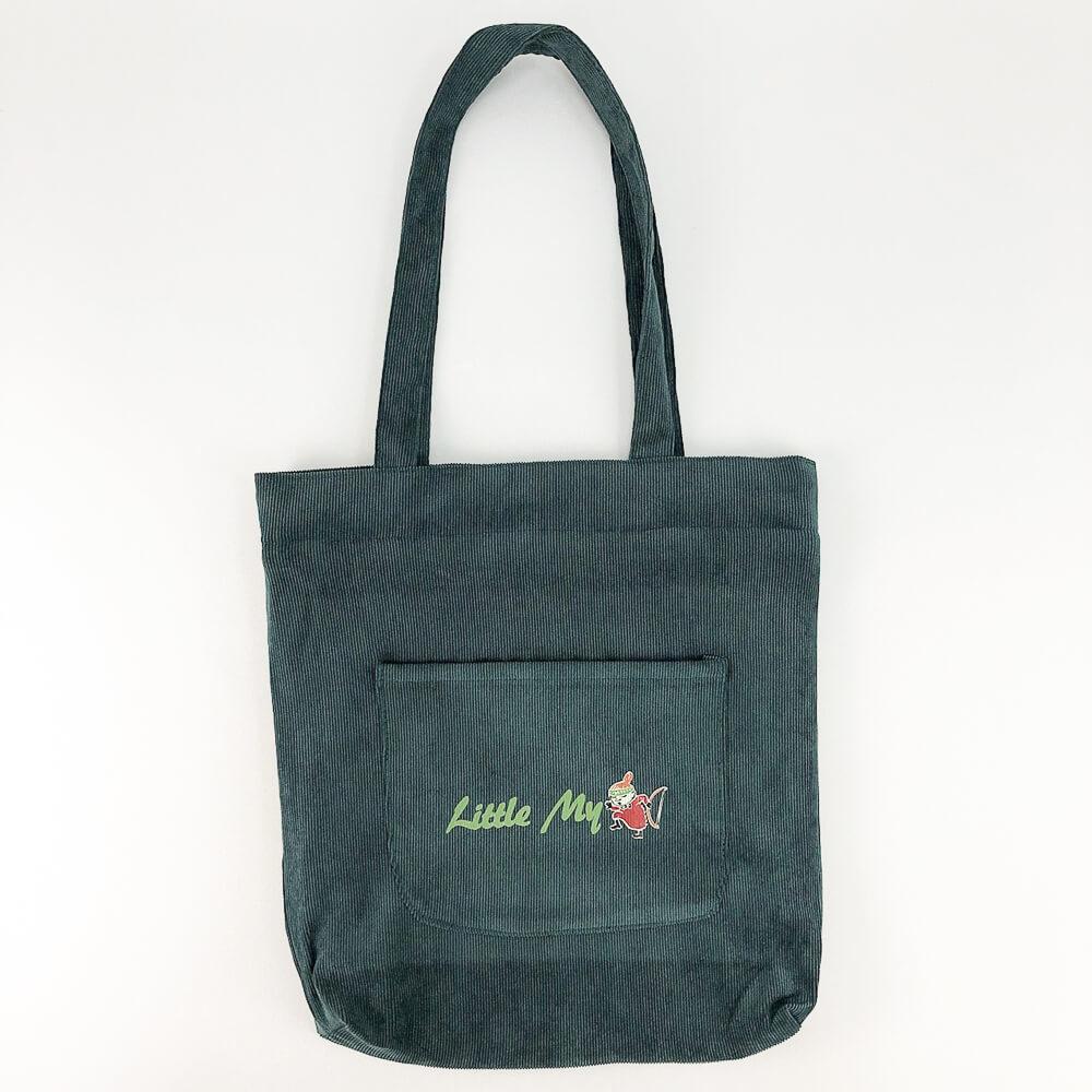 YOSHI850|嚕嚕米正版授權:燈芯絨手提包【04 綠】