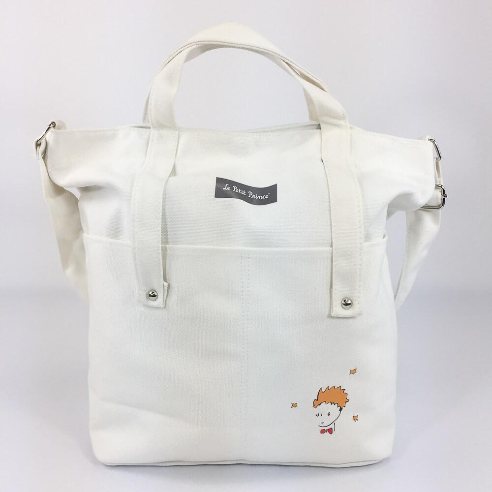 YOSHI850|小王子經典版授權:學院風手提肩背包【米白】