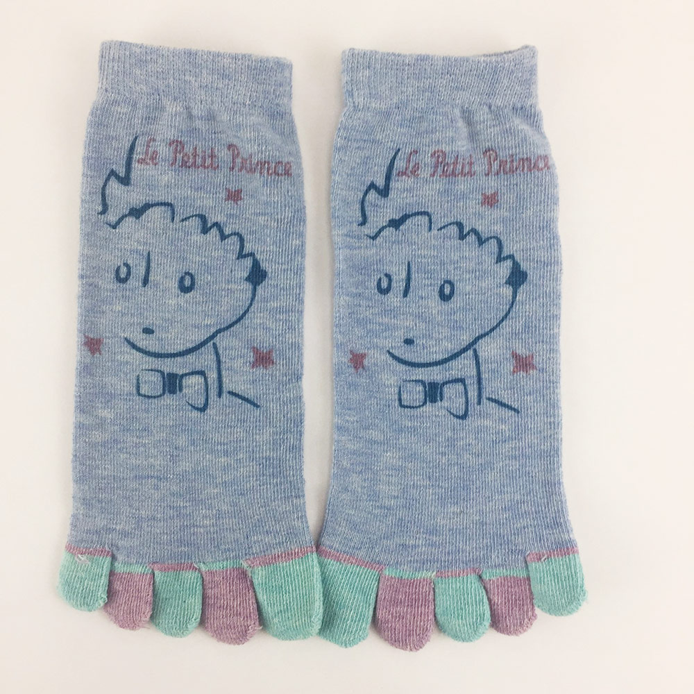 YOSHI850|小王子經典版授權 - 五趾襪系列:【粉紅/麻灰/紫/藍色4款圖】