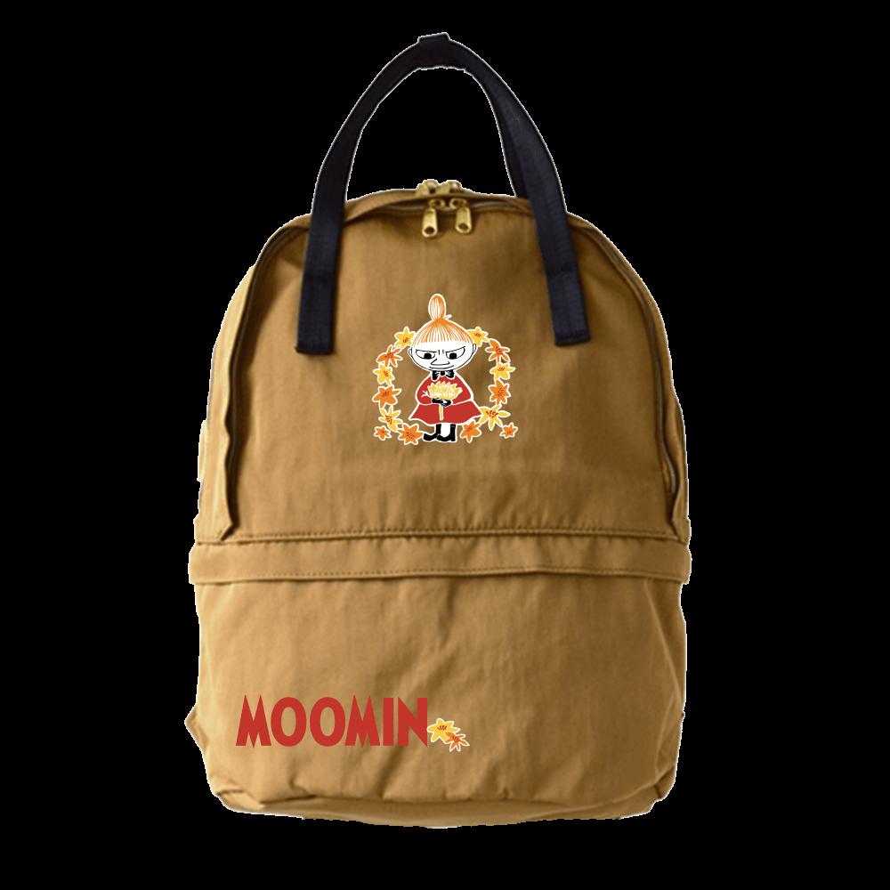 YOSHI850 嚕嚕米正版授:雙層後背包【卡其】