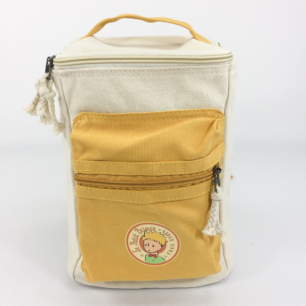 YOSHI850|小王子經典版授權:方筒拼色後背包【黃】(親子包-小款)