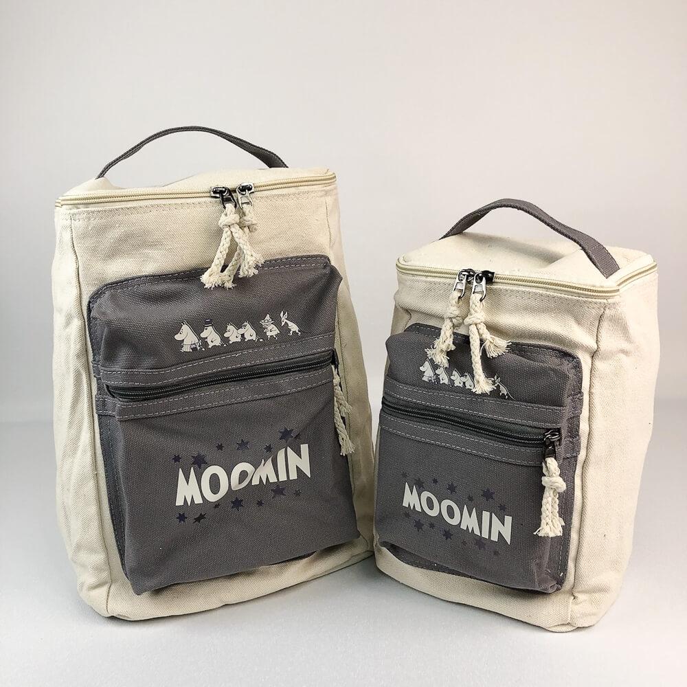 YOSHI850 嚕嚕米正版授權:方筒拼色後背包【灰】(親子包-大款)