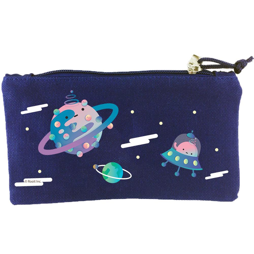 YOSHI850|新創設計師 - 沒個性星人Roo:筆袋【外太空(藍)】