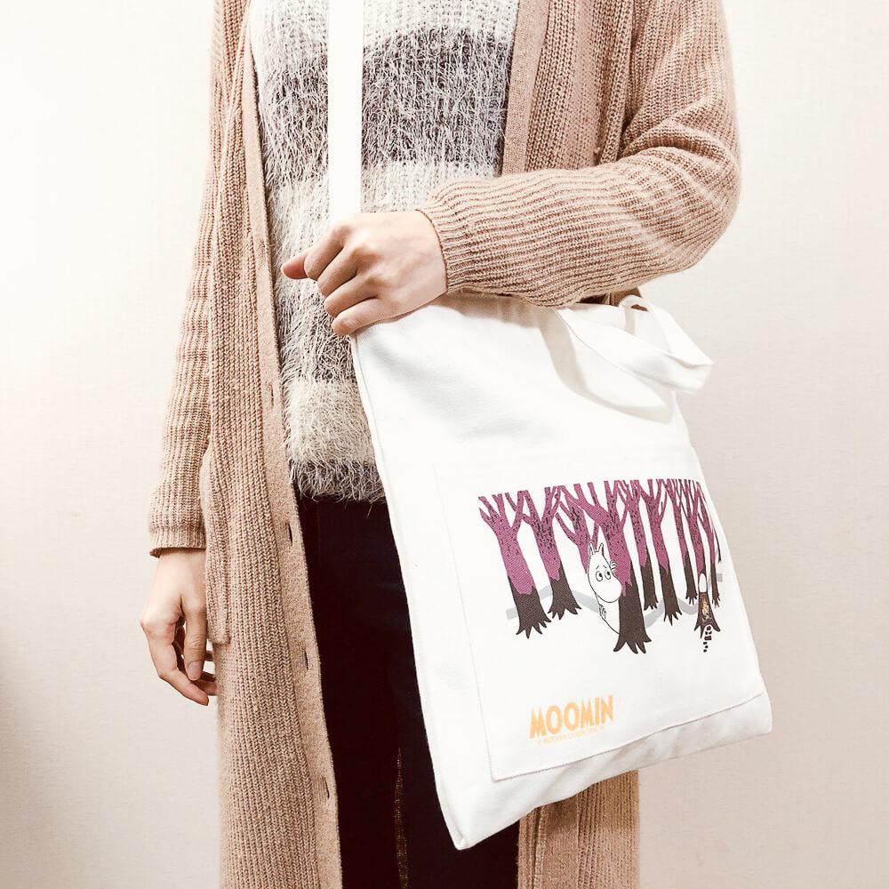 YOSHI850|嚕嚕米正版授權:大口袋購物包【01白】