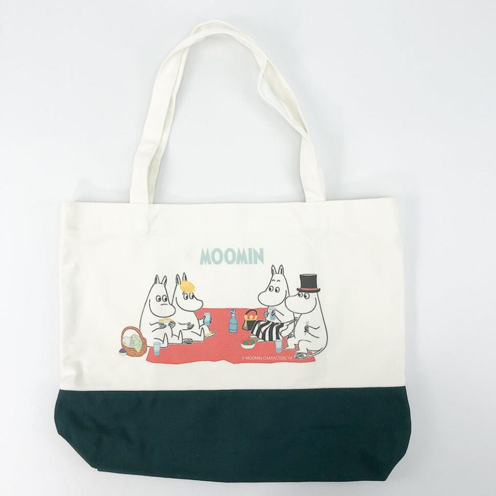 YOSHI850|嚕嚕米正版授權:拼色購物包【03墨綠】