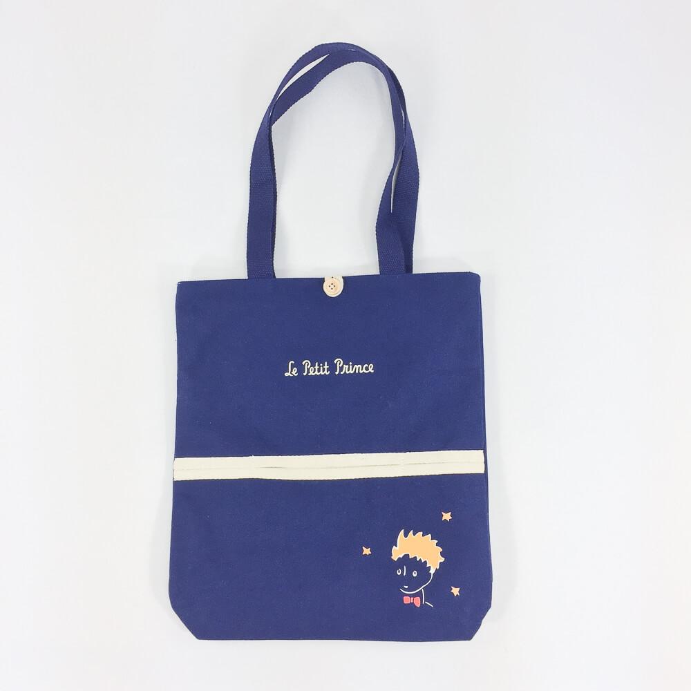 YOSHI850|小王子經典版授權:文青風手提包【03藍】