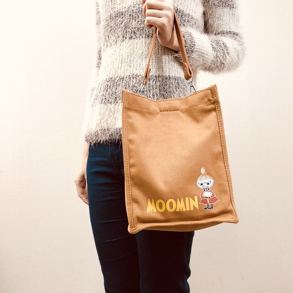 YOSHI850|嚕嚕米正版授權:皮帶手提肩背包【01咖啡】