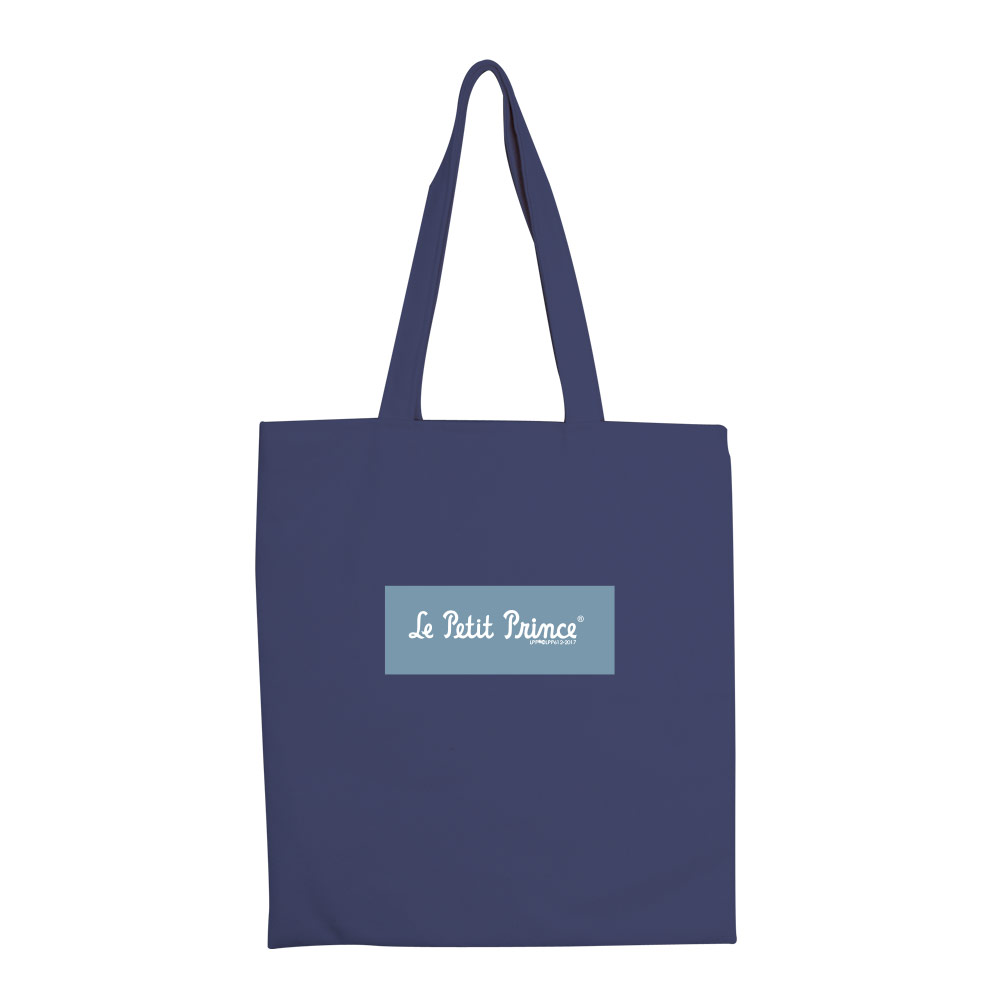 YOSHI850|小王子經典版授權:彩色手提購物包【帶我去旅行(藏青)】