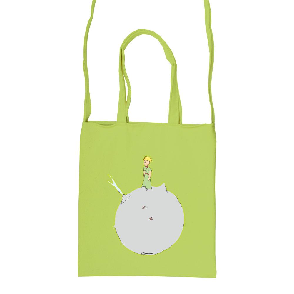 YOSHI850|小王子經典版授權:彩色斜背包【03 另一個星球(果綠)】