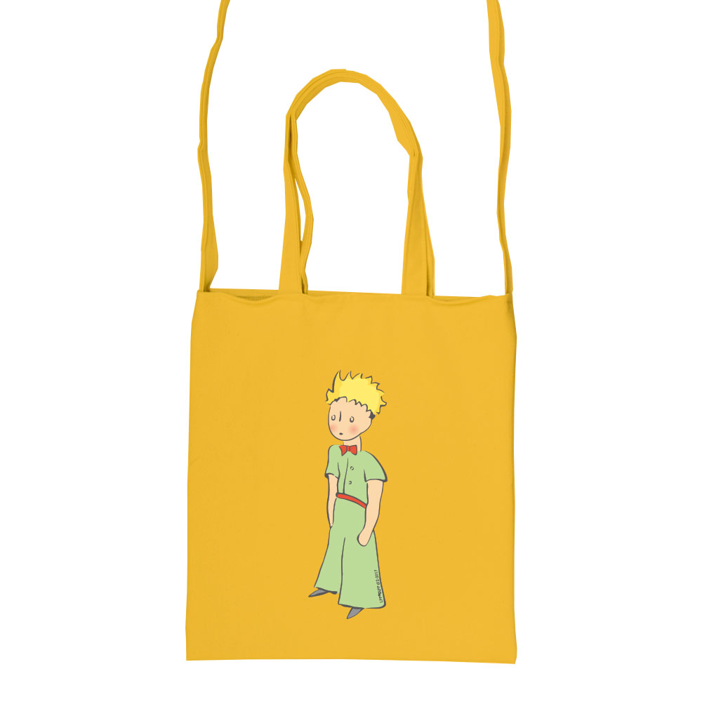YOSHI850 小王子經典版授權:彩色斜背包【06 傻傻的小王子(黃)】
