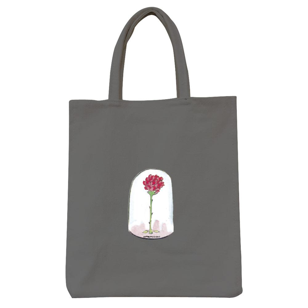 YOSHI850 小王子經典版授權:彩色野餐包【09 玻璃罩裡的玫瑰花(鐵灰)】