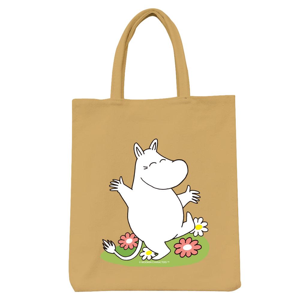 YOSHI850|Moomin嚕嚕米正版授權:彩色野餐包【02 花漾(卡其)】
