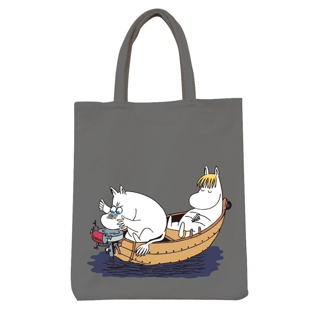 YOSHI850|Moomin嚕嚕米正版授權:彩色野餐包【05 moomin捕魚趣(鐵灰)】