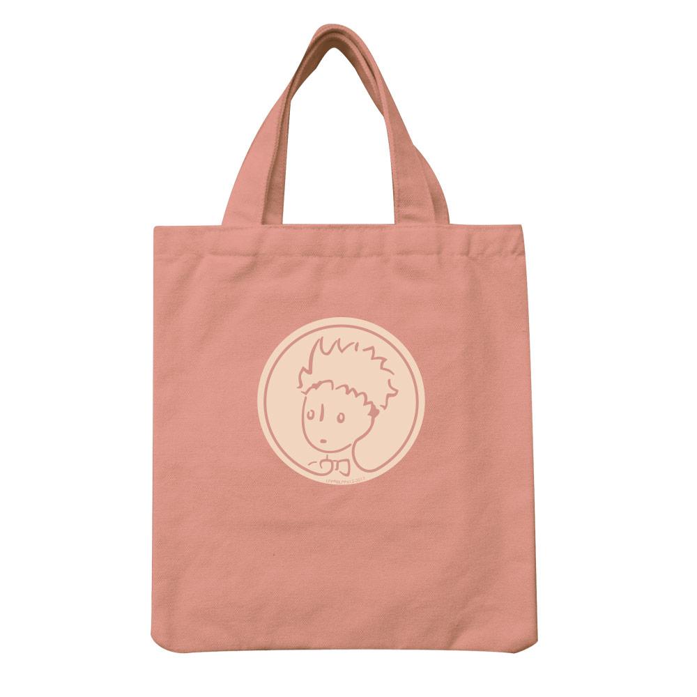 YOSHI850|小王子經典版授權:彩色手提小帆布包【05 玫瑰花園(粉紅)】