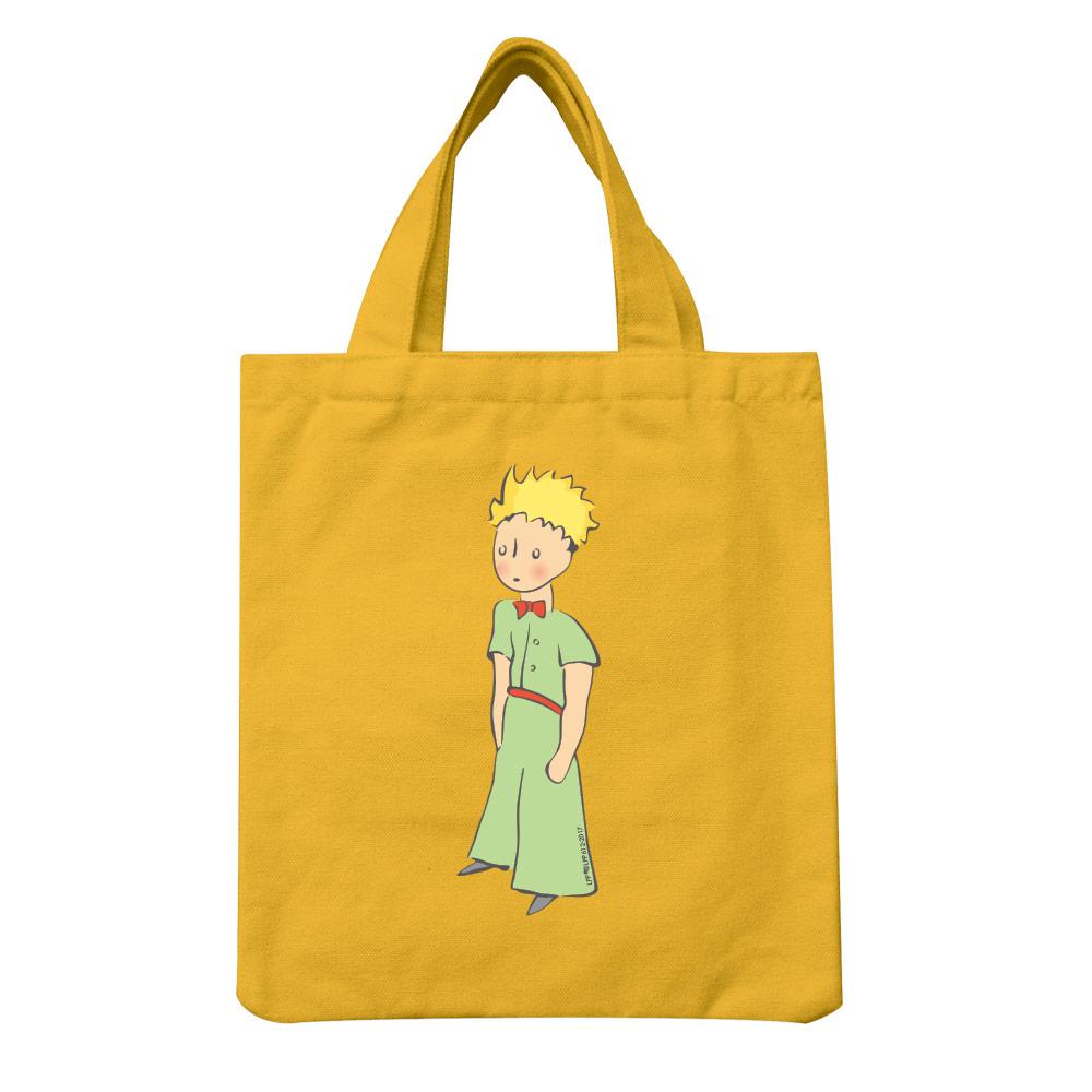 YOSHI850|小王子經典版授權:彩色手提小帆布包【06 傻傻的小王子(黃)】
