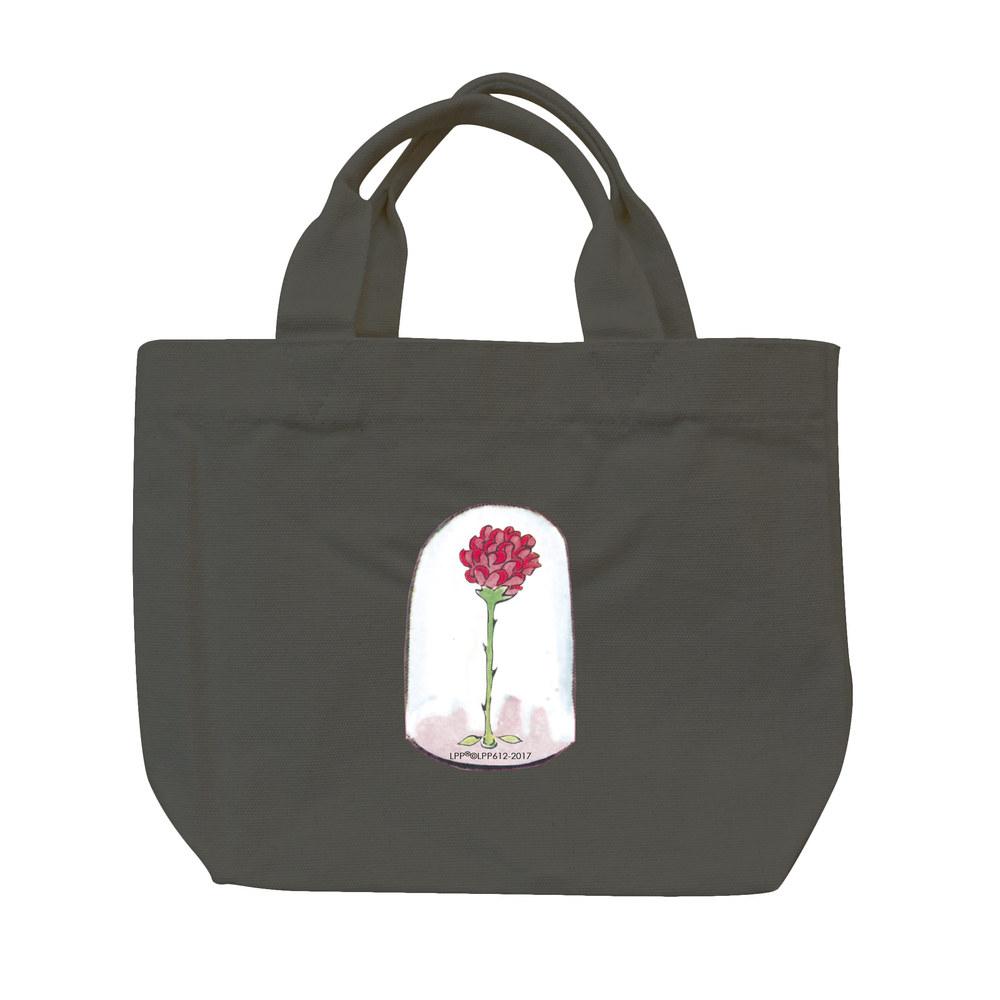 YOSHI850|小王子經典版授權:彩色托特包【09 玻璃罩裡的玫瑰花(鐵灰)】