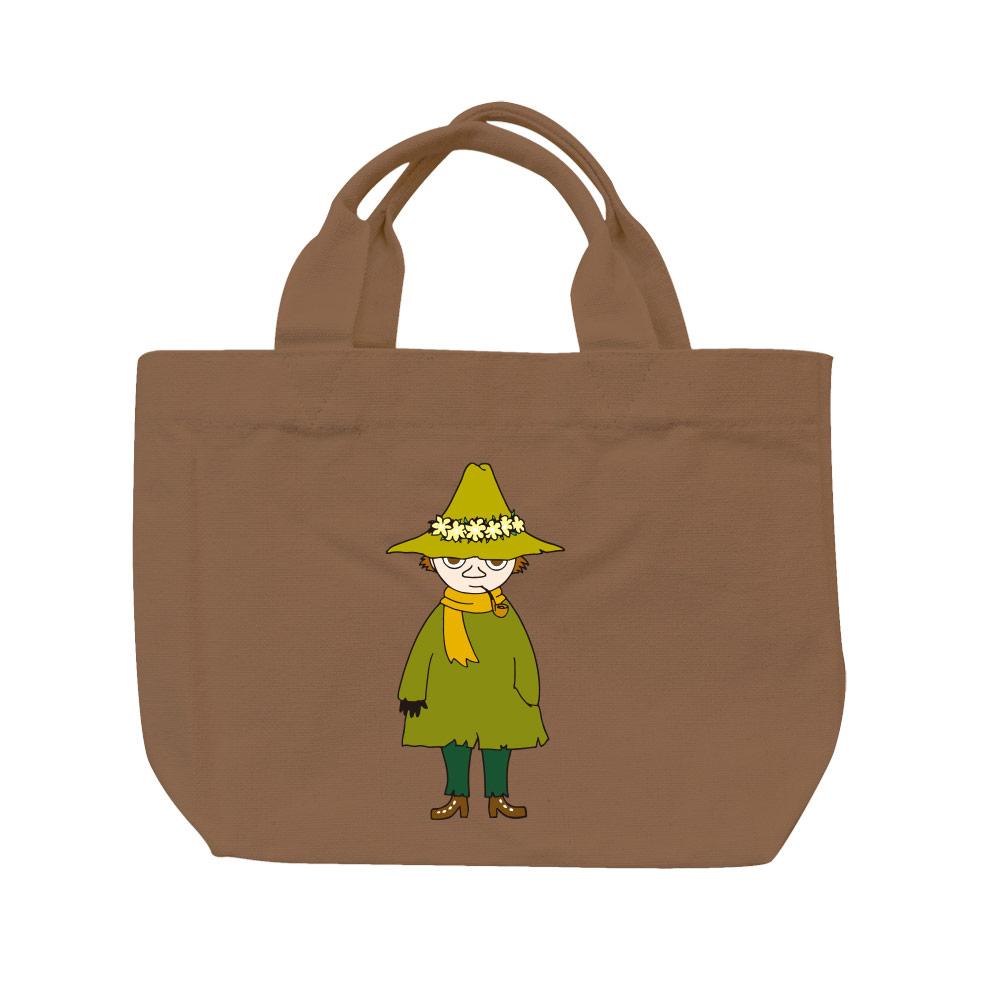 YOSHI850|Moomin嚕嚕米正版授權:彩色托特包【03 阿金(咖啡)】