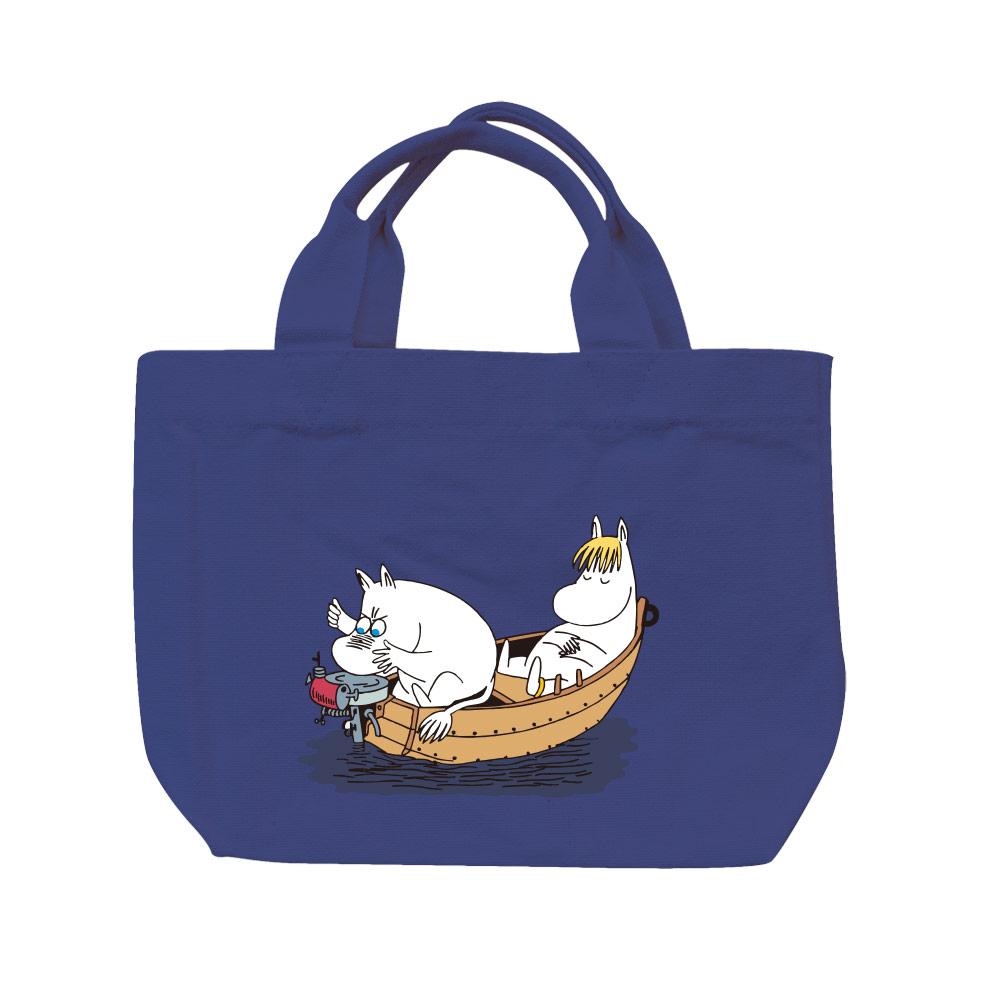 YOSHI850|Moomin嚕嚕米正版授權:彩色托特包【05 moomin捕魚趣(藏青)】