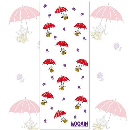 YOSHI850|嚕嚕米正版授權-厚棉(雙層) 紗布毛巾 【小紅傘】