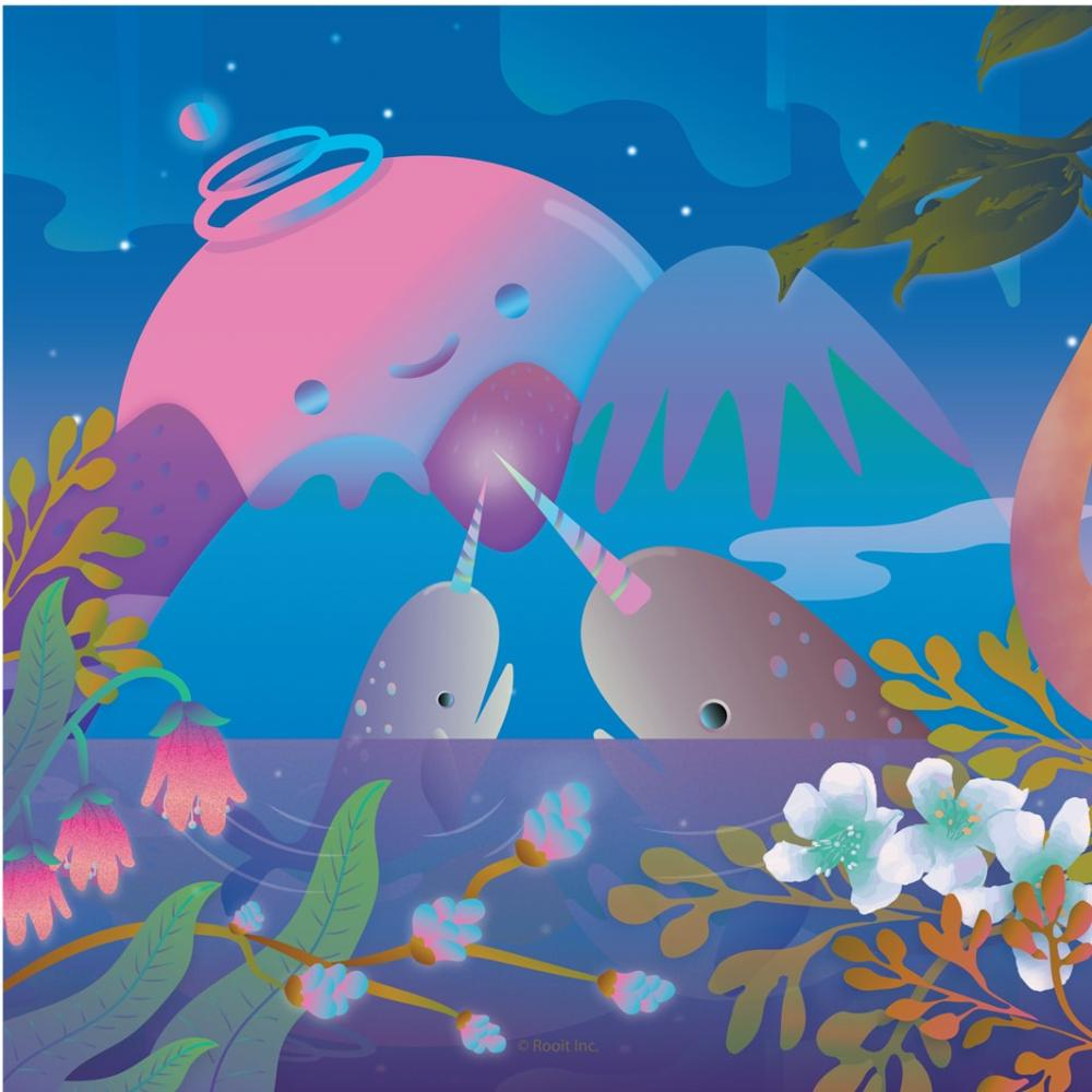 YOSHI850|新創設計師 - 沒個性星人Roo:擦手巾 【夜晚大嚕】