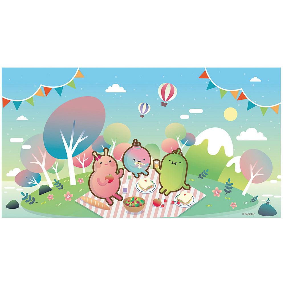 YOSHI850|新創設計師 - 沒個性星人Roo:彩色厚棉浴巾【01 野餐派對】