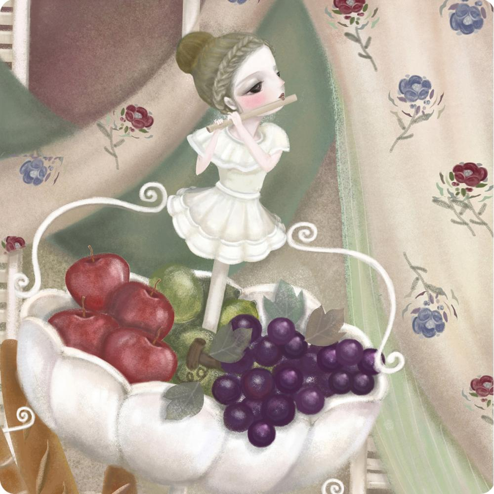 YOSHI850 手繪愛情系列:吸水杯墊【豐收】(方.圓)