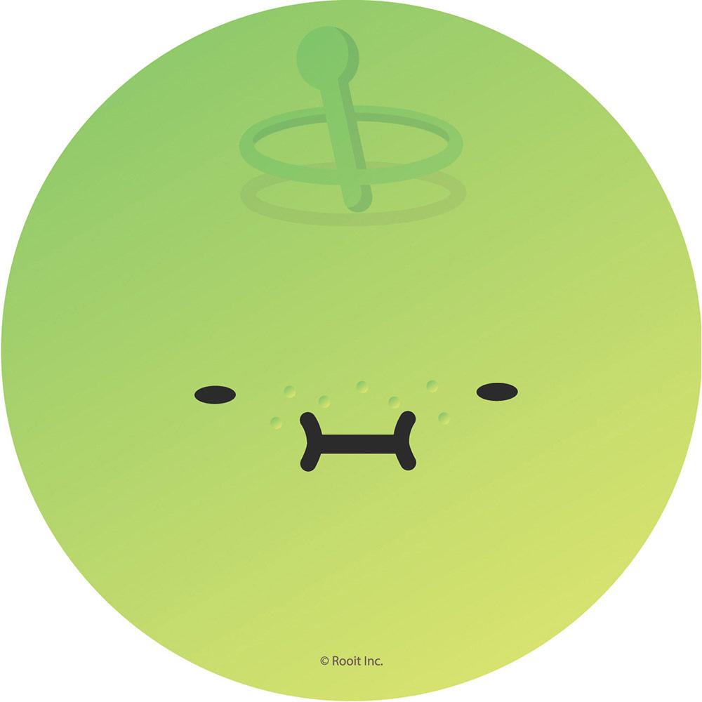 YOSHI850|新創設計師 - 沒個性星人Roo:吸水杯墊【03大臉瓜】(圓)
