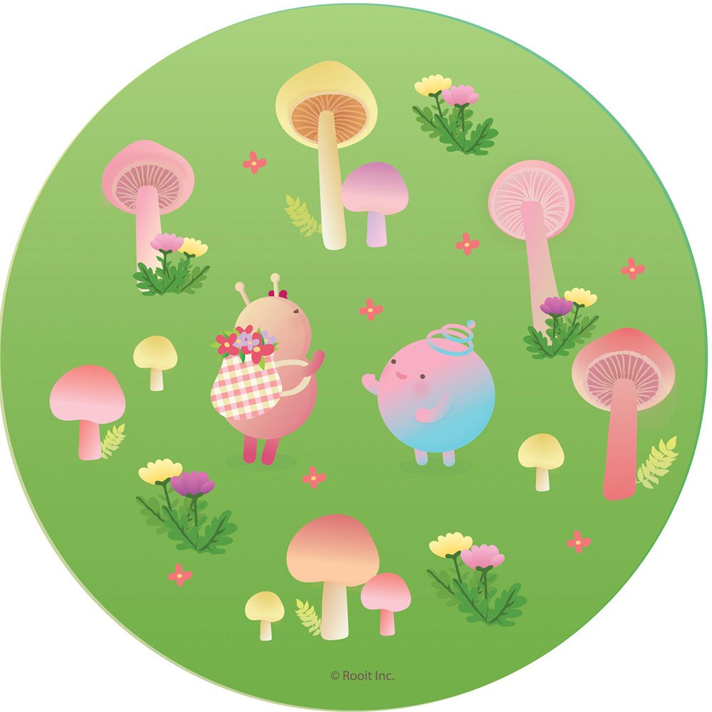 YOSHI850|新創設計師 - 沒個性星人Roo:吸水杯墊【06綠園冒險】(圓)