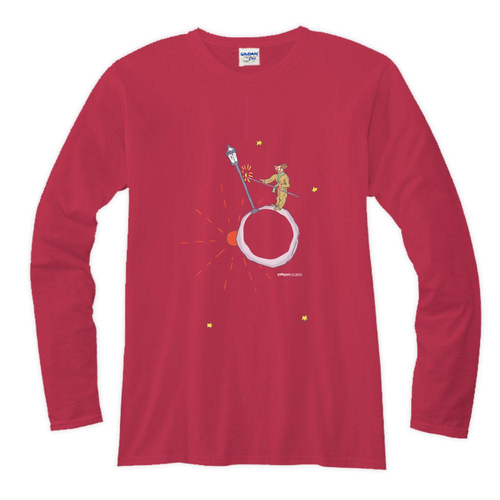 YOSHI850|小王子經典版授權【03 辛苦的燈夫】長袖T-shirt (修身/中性)7種顏色