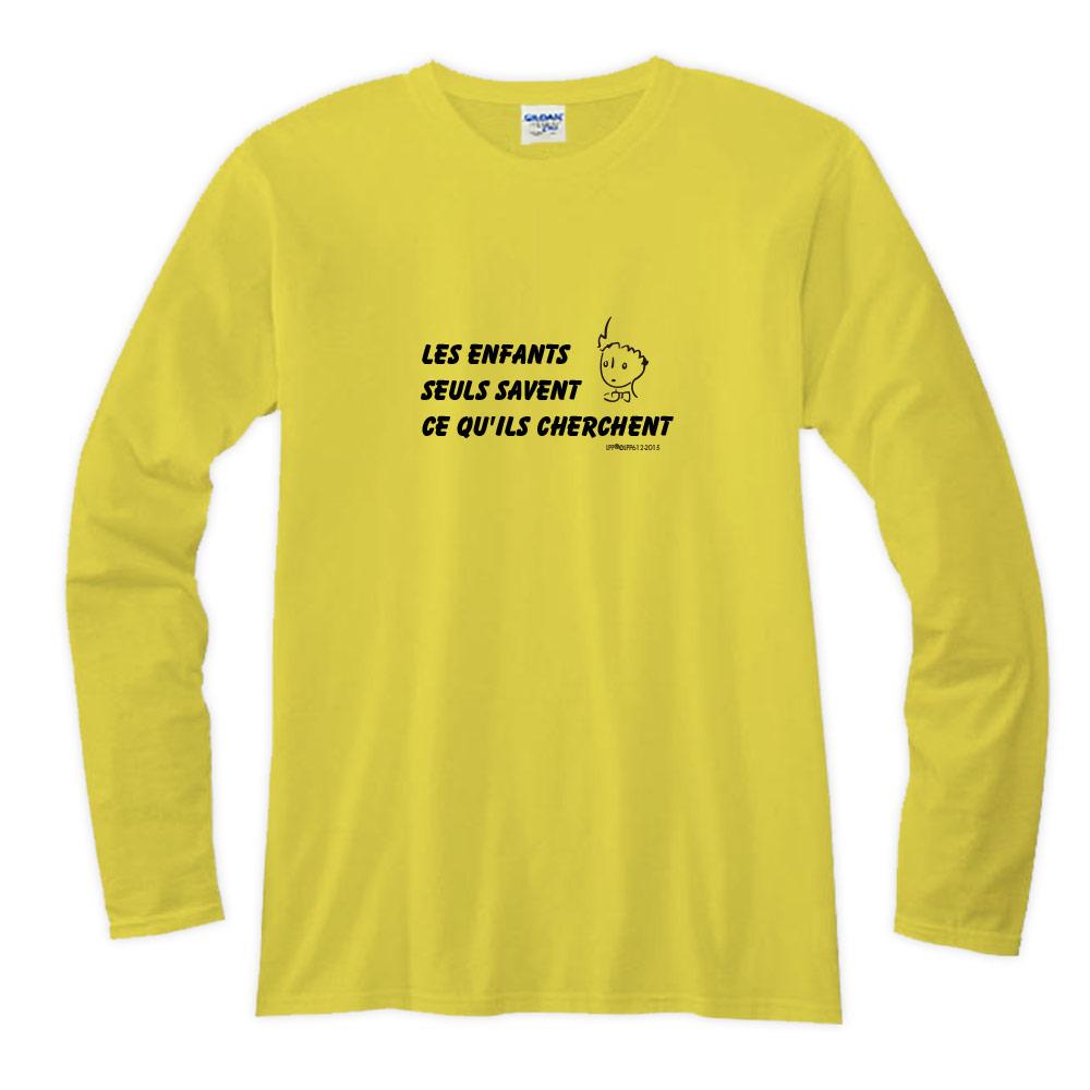 YOSHI850|小王子經典版授權【05 只有小孩子知道他們在找甚麼】長袖T-shirt (修身/中性)7色