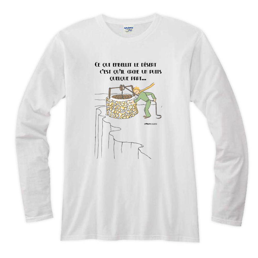 YOSHI850|小王子經典版授權【20 讓沙漠美麗的水井】長袖T-shirt (修身/中性)7種顏色