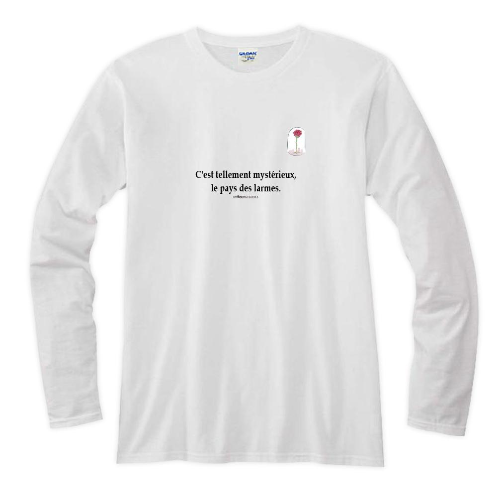 YOSHI850|小王子經典版授權【21 玻璃罩裡的玫瑰花】長袖T-shirt (修身/中性)7種顏色