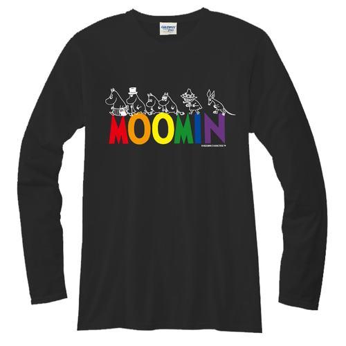 YOSHI850|Moomin嚕嚕米正版授權【04 Happy Family】長袖T-shirt (修身/中性)黑色