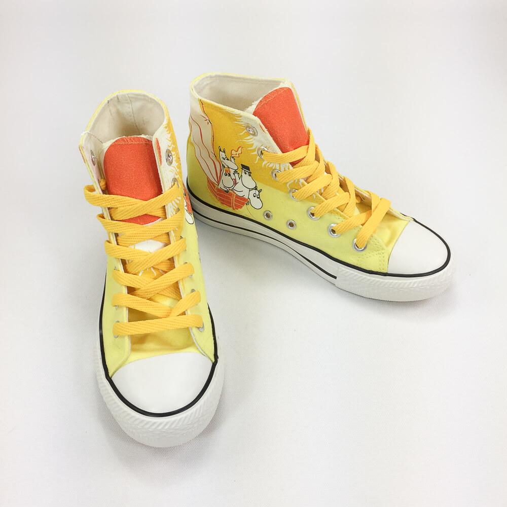 YOSHI850|Moomin嚕嚕米正版授權:帆布鞋【18黃鞋黃帶】