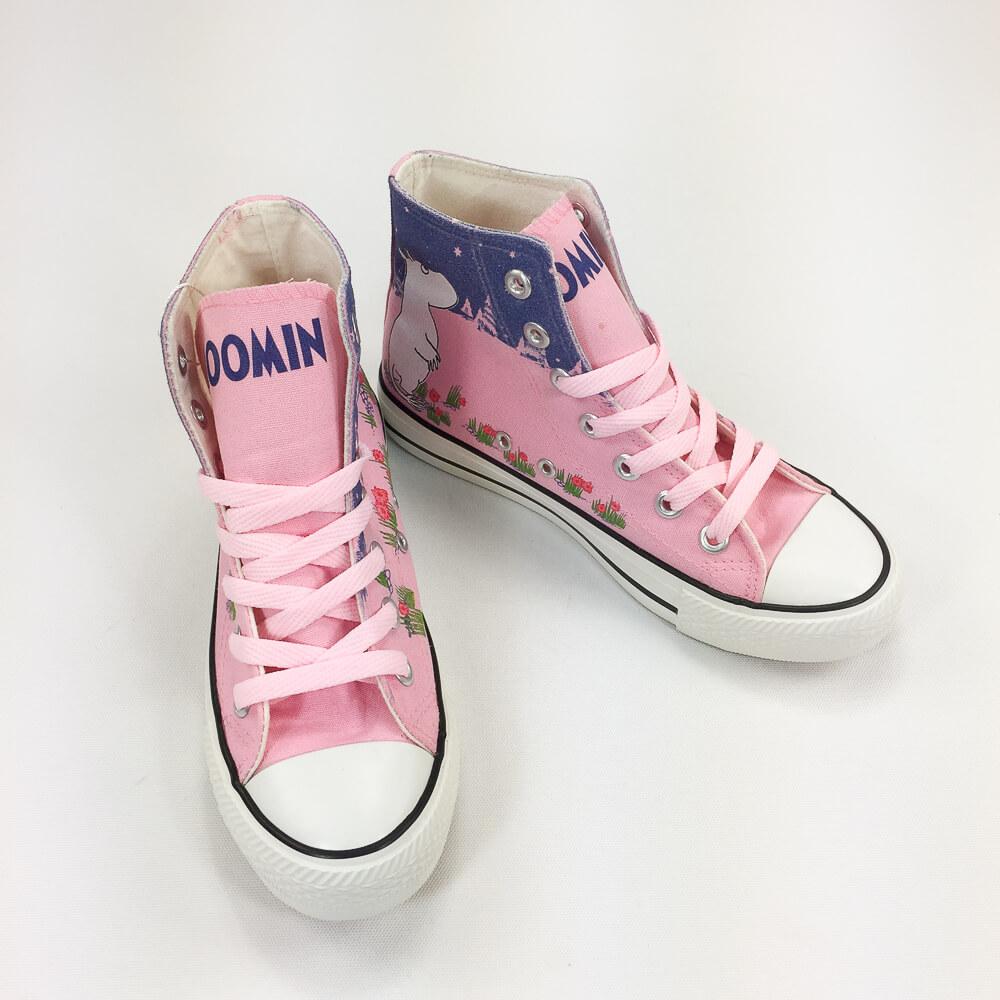 YOSHI850|Moomin嚕嚕米正版授權:帆布鞋【21(粉鞋粉帶】