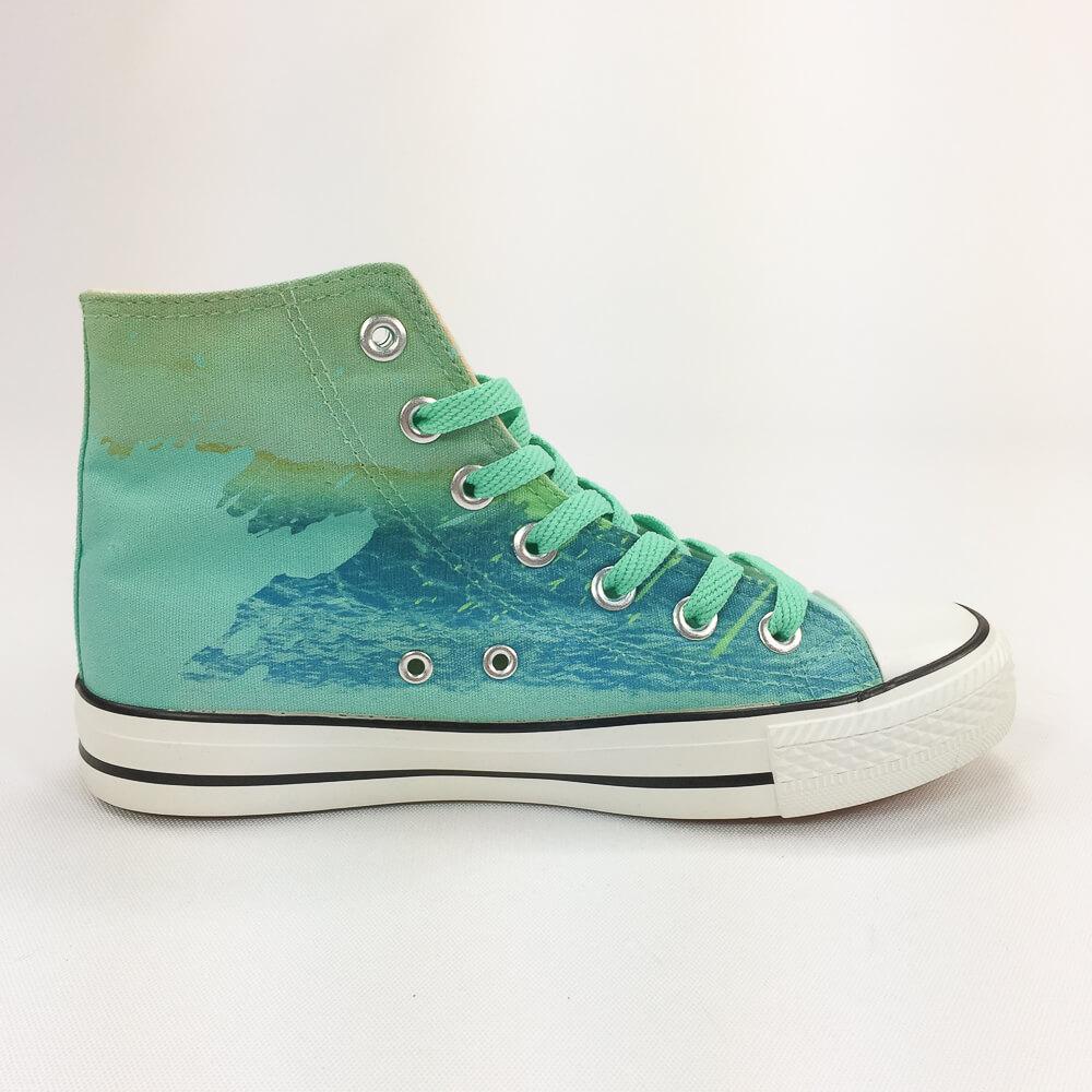 YOSHI850|新創設計師850 Collections:帆布鞋【03 綠鞋淺綠帶】
